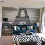 Paris removable mural, close up