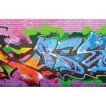 Graffiti removable wallpaper 4