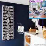 Place Names removable wall stickers in Home Beautiful Magazine
