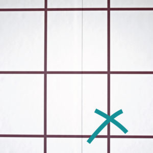 Our wallpaper does not have overlapping joins - phew