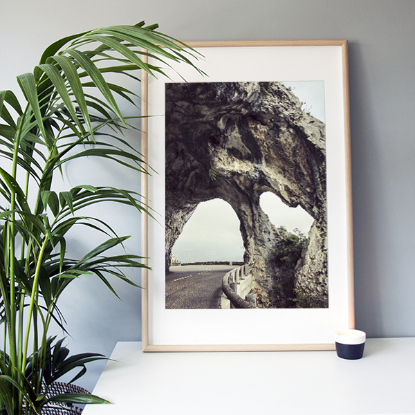 "Frame It Art – Cliff Road seen in an Ikea ""Ribba"" frame"