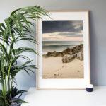 "Frame It Art – Beach seen in an Ikea ""Ribba"" frame"