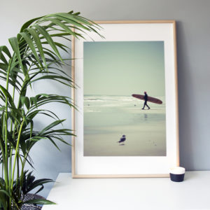 "Frame It Art - Surf Beach seen in an Ikea ""Ribba"" frame"