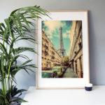"""Frame It Art – Paris Street seen in an Ikea """"Ribba"""" frame"""