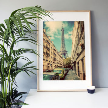 "Frame It Art - Paris Street seen in an Ikea ""Ribba"" frame"