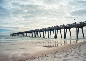 Custom Beach Mural Image - Fishing Pier