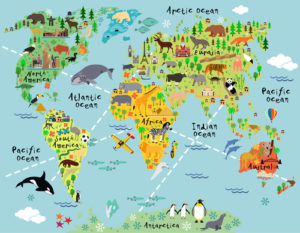 Custom Map Mural Image - Map 3
