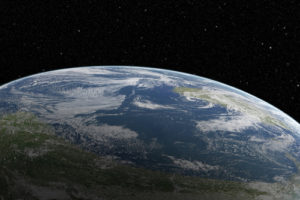 Amazing Planet Mural Image - Close to Earth