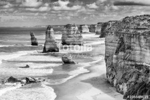 Australia Mural Image - 12 Apostles Black and White