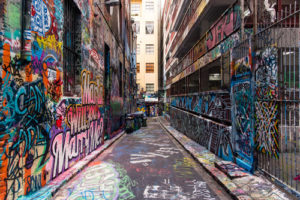 Australia Mural Image - Melbourne Alley
