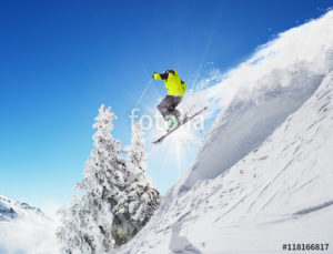 Custom Sports Mural Image - Skiing 2