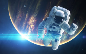 Amazing Planet Mural Image - Spaceman
