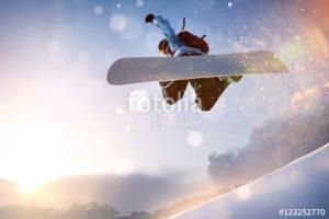 Custom Sports Mural Image - Snowboarding