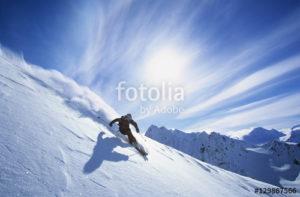 Custom Sports Mural Image - Skiing
