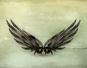 Custom Teen Mural Image - Black Wings
