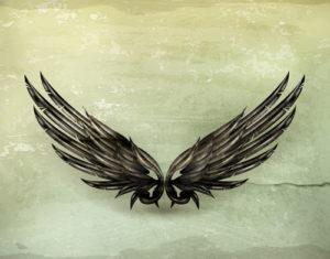 Custom Teen Mural Image - Black Wings