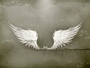 Custom Teen Mural Image - White Wings