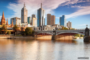 Custom Travel Mural Image - Melbourne Australia