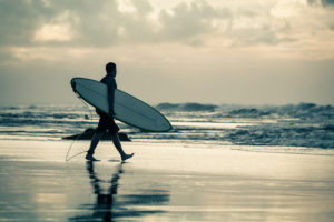 Custom Sports Mural Image - Lone Surfer