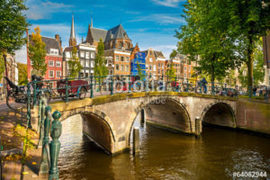 Custom Travel Mural Image - Amsterdam Netherlands