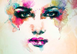 Custom Teen Mural Image - Pink Face