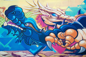 Custom Teen Mural Image - Blue Dragon