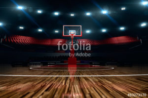Custom Sports Mural Image - Basketball Stadium