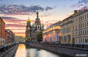 Custom Travel Mural Image - St Petersberg Russia
