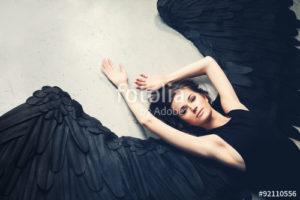 Custom Teen Mural Image - Black Angel