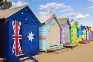 Australia Mural Image - Beach Boxes
