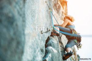 Custom Sports Mural Image - Rock Climbing