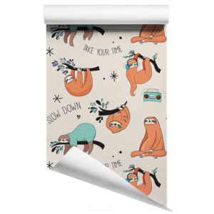 Sloth removable wallpaper