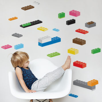 Building Blocks wall stickers in pack 1