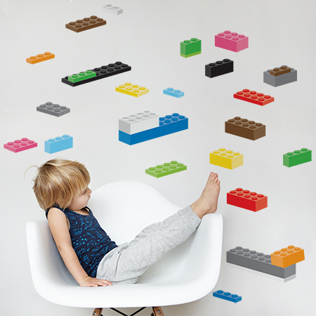 Building Blocks wall stickers, pack 1