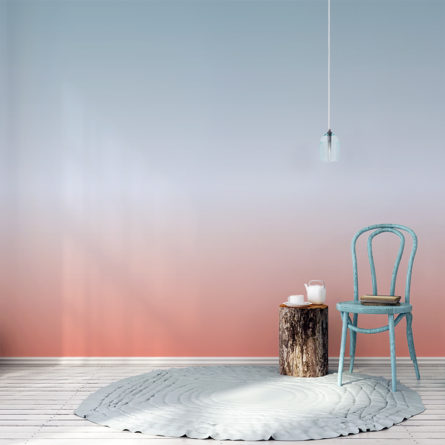 Ombre wallpaper in Summer Days colour way