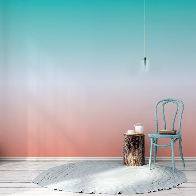 Ombre wallpaper in Summer Nights colour way