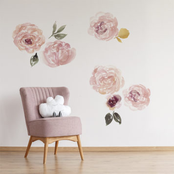 Peonies wall stickers