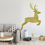 Reindeer wall sticker in Gold
