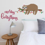 Christmas Sloth wall sticker