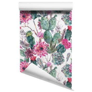 Cactus removable wallpaper design 1