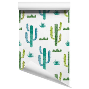 Cactus removable wallpaper design 2