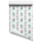 Cactus removable wallpaper design 5