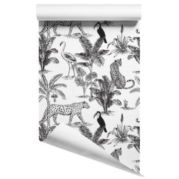 Jungle wallpaper - B&W