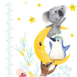 Native Animal Height Chart close up 1