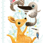Native Animal Height Chart close up 2