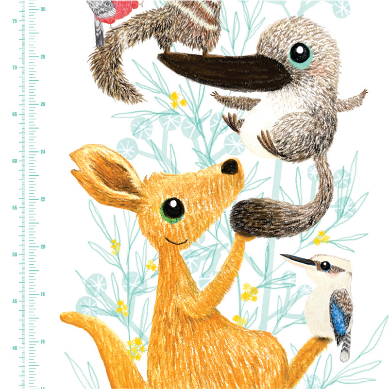 Native Animals Height Charts close up 1
