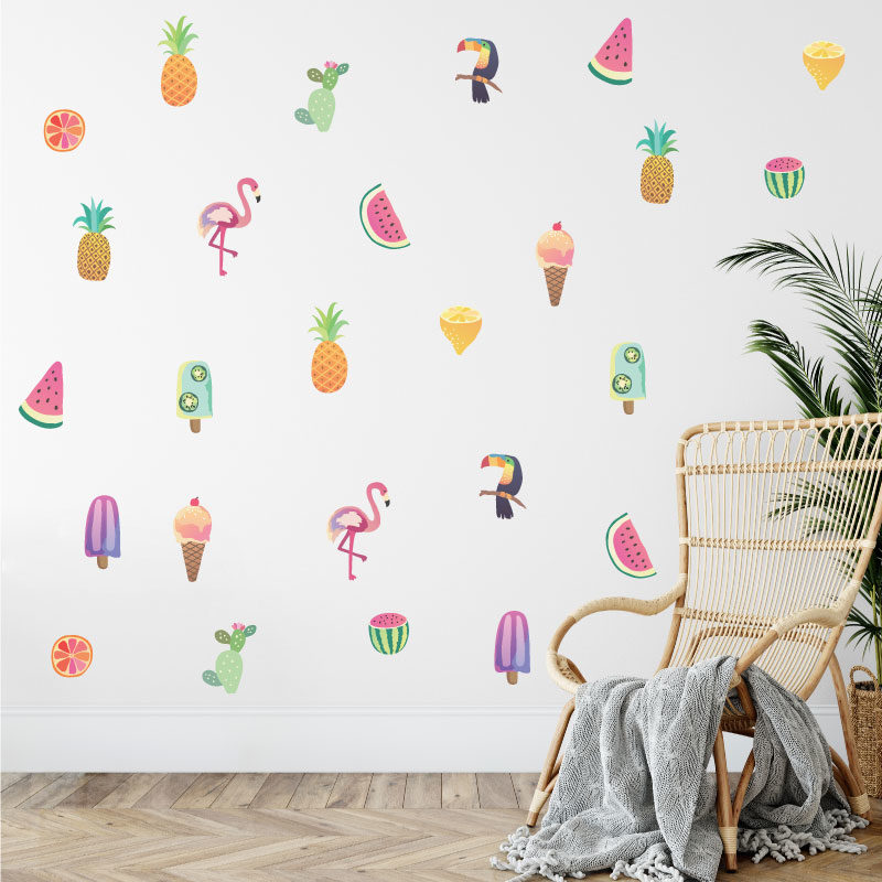 tropical icons mixed