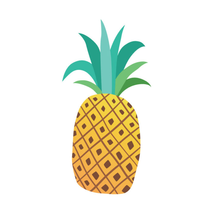 Tropical Icons Pineapples yellow