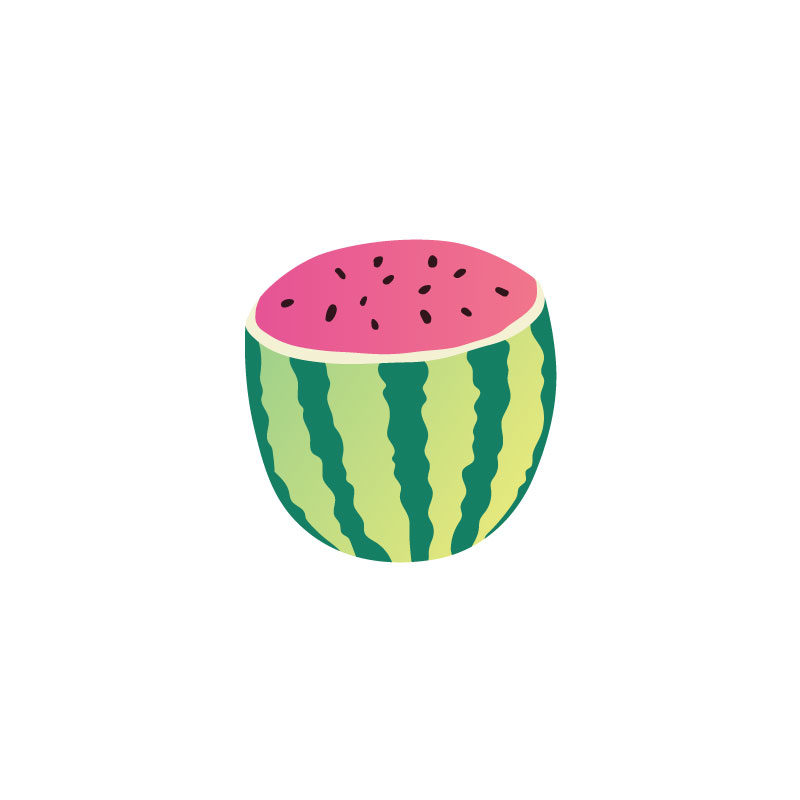 Tropical Icons watermelons half
