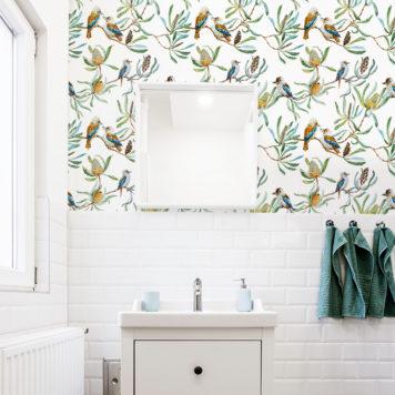 Banksia and Kookaburras wallpaper